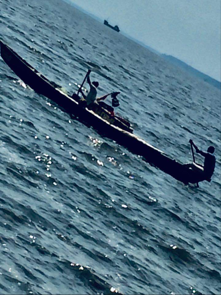 Pêcheurs sur le Wouri