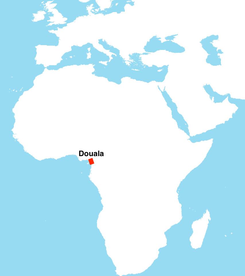Douala sur la carte